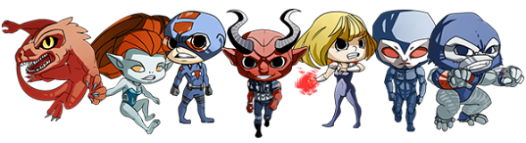 Statist Characters Chibi Bumper Sticker