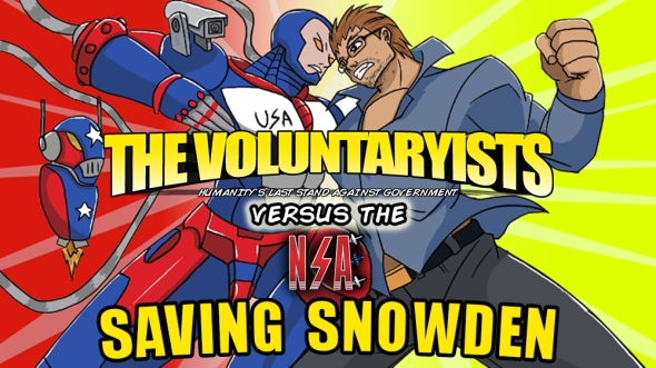 Saving Snowden The Voluntaryists Comic Promo with Text