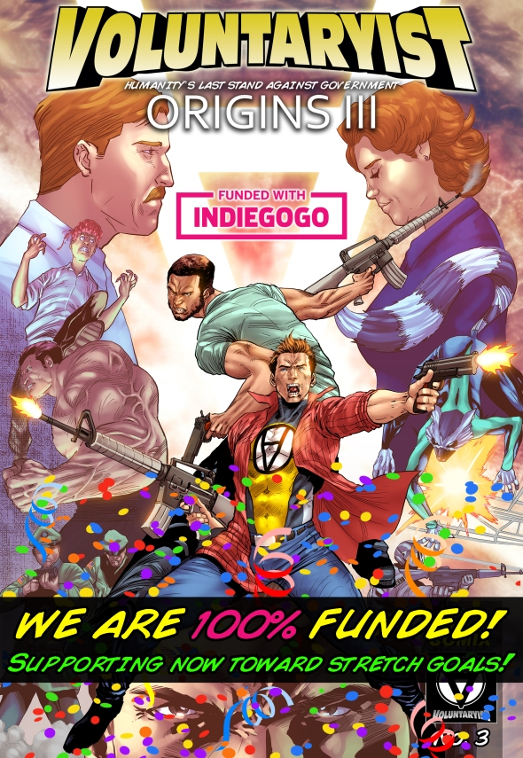 100 percent funded voluntaryist origins III comic cover